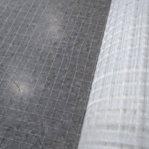Fiberglass mesh laid scrim mesh fabric for reinforced aluminum foil insulation