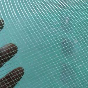 Renfort de maille Scrim posé en fibre de verre pour plancher en PVC