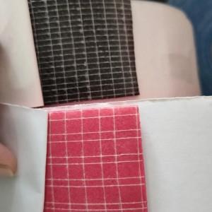 Çift yüz çift taraflı polyester koydu bez örgü kumaş örgü bant yapışkan kağıt bant