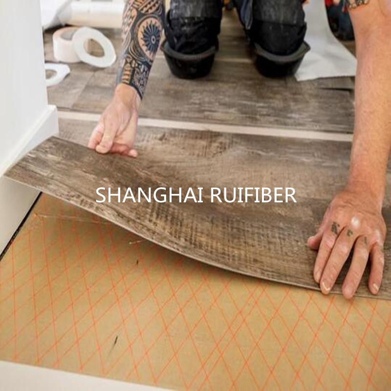 PVC floor with scrim