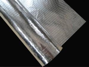 Tri-directional laid scrim for aluminum and foil composition